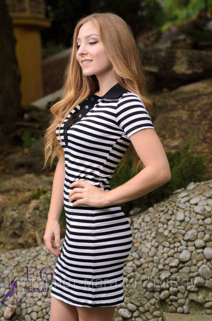 Платье-тельняшка. Размер 42-44 !