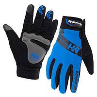 Велоперчатки зимние двухслойные SoftShell NatureHike Winter синий NH23S014-T