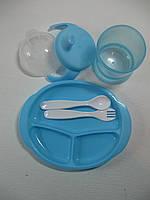 Набор посуды (чашка, тарелка, вилка, ложка), арт. 007, фото 1