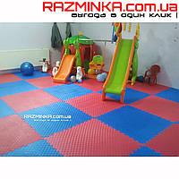Травмобезопасное покрытие для детских игровых площадок EVA 1000х1000х30мм, 1шт