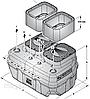 SAR 550 - TRm1,1 с ножами  Pedrollo (до 14.8 куб/ч, 22м), фото 2