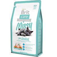 Brit Care MISSY Sterilised - корм для кастрированных котов и стерилизованных кошек (курица/рис) 7КГ