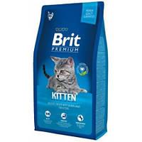 Сухой корм Brit Premium Kitten для котят, с курицей  8КГ