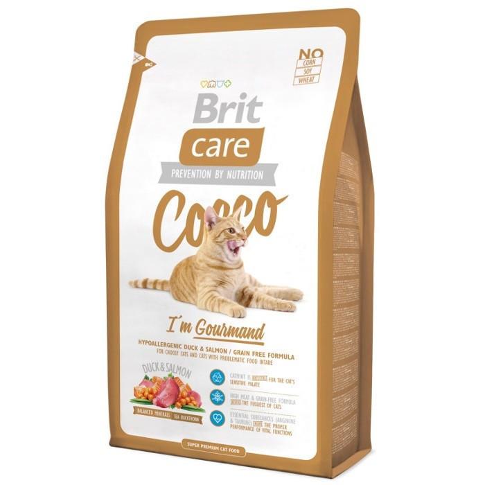 Сухий корм Brit Care COCCO для вибагливих кішок, з качкою і лососем 0,4 КГ