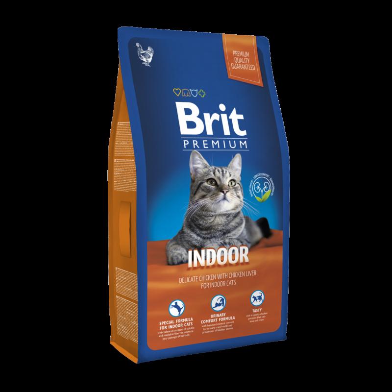 Сухой корм Brit Premium Indoor для домашних кошек  8КГ
