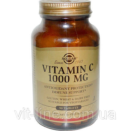 Solgar, Витамин С, 1000 мг, 90 таблеток, фото 2