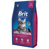 Сухой корм Brit Premium для кошек, с курицей  8КГ