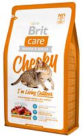 Brit Care CHEEKY Living Outdoor - корм для взрослых активных кошек, гуляющих на улице (оленина/рис) 7КГ