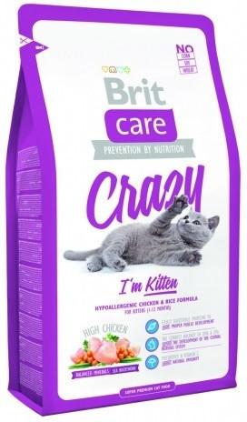 Сухий корм Brit Care CRAZY для кошенят, з куркою та рисом 0,4 КГ