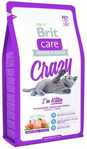 Сухой корм Brit Care CRAZY для котят, с курицей и рисом 0,4КГ