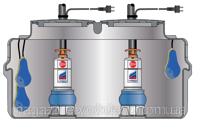 SAR 550 - MCm 15/50 Pedrollo (до 96 куб/ч, 14м)