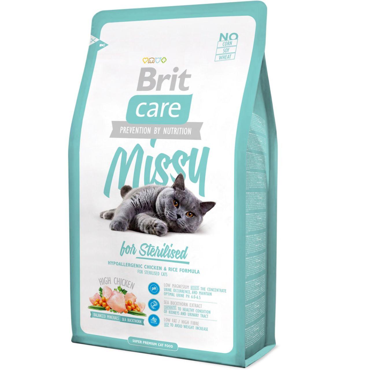 Сухой корм Brit Care MISSY Sterilised для стерилизованных кошек, с курицей и рисом 2КГ