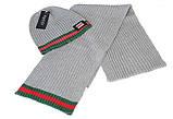 Разные цвета Gucci шапка + шарф вязаные для взрослых и подростков хлопок гуччи, фото 2