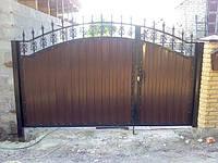 Врота из полимерной ковки