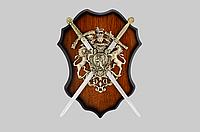 Сувенирное панно ,400Х300 мм ,2 меча .