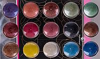 Набор цветных микроблесток 15 шт по 5 г баночка