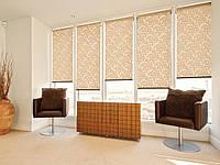 Роллеты тканевые (рулонные шторы), на окна от солнца. Ассортимент видов и расцветок.