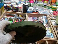 Ременная лента стропа 3 см хаки (Тесьма сумочная)