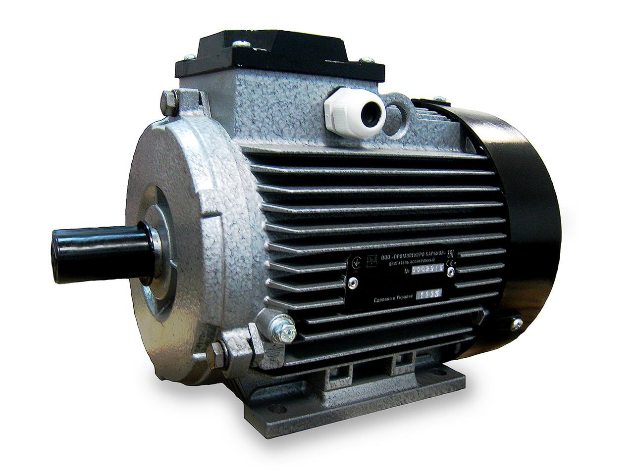 Трёхфазный электродвигатель АИР 71 В2 У2 (1.1 кВт, 3000 об/мин)