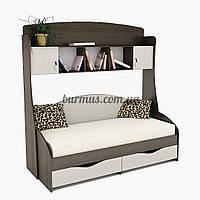 Односпальная кровать с надстройкой Горизонт + ПК-1