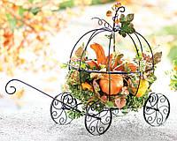 Заказать карету кованую декоративную в сад для цветов [стоимость цена заказать]