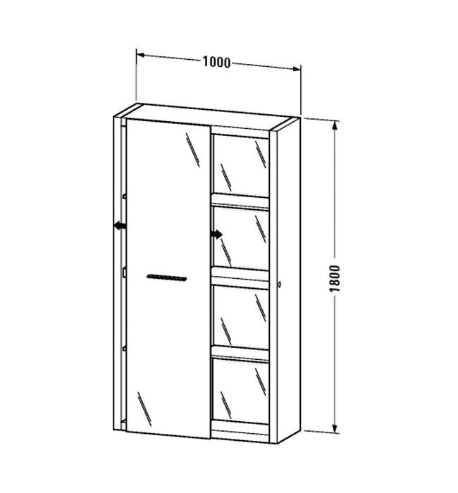 duravit Пенал Duravit 2nd Floor 100 см, правый 2F9158R5959