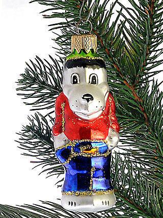 Стеклянная елочная игрушка Волк ЛВ 1864, фото 2