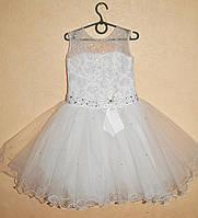 Белое Праздничное Платье для девочки , Бальное платье для девочки 5-7 лет