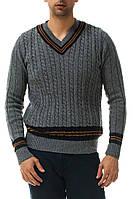 Серый мужской свитер De Facto