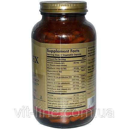 """Solgar, Комплекс витаминов В """"50"""", 250 растительных капсул, фото 2"""