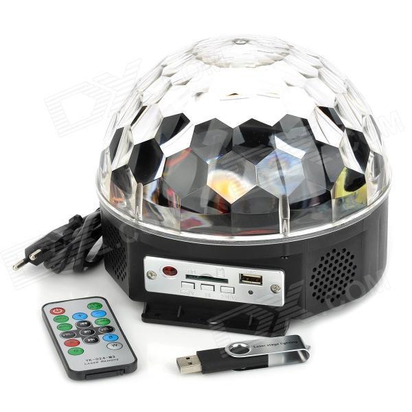 Музичний проектор LED Crystal magic ball light MP3 SD card - світлодіодний диско куля