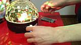 Музичний проектор LED Crystal magic ball light MP3 SD card - світлодіодний диско куля, фото 8
