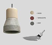 Подвесной светильник Pride 89130 бетон-дерево