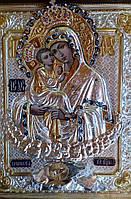 Икона в серебряной ризе Почаевская Божья Матерь 40*35 см