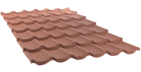 Brown. Лист QueenTile 6-тайловый