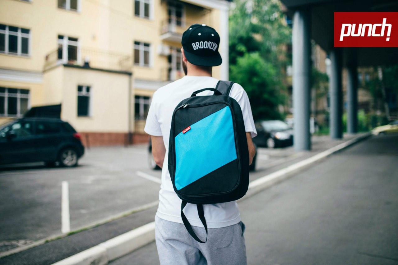 Рюкзак Punch Tilt чёрно-голубой, фото 1