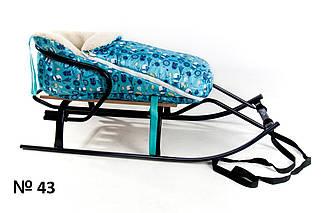 Меховой конверт для санок и колясок со снеговиками