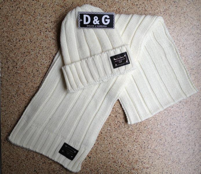Разные цвета D&G шапка + шарф вязаные для взрослых и подростков хлопок дольче габбана
