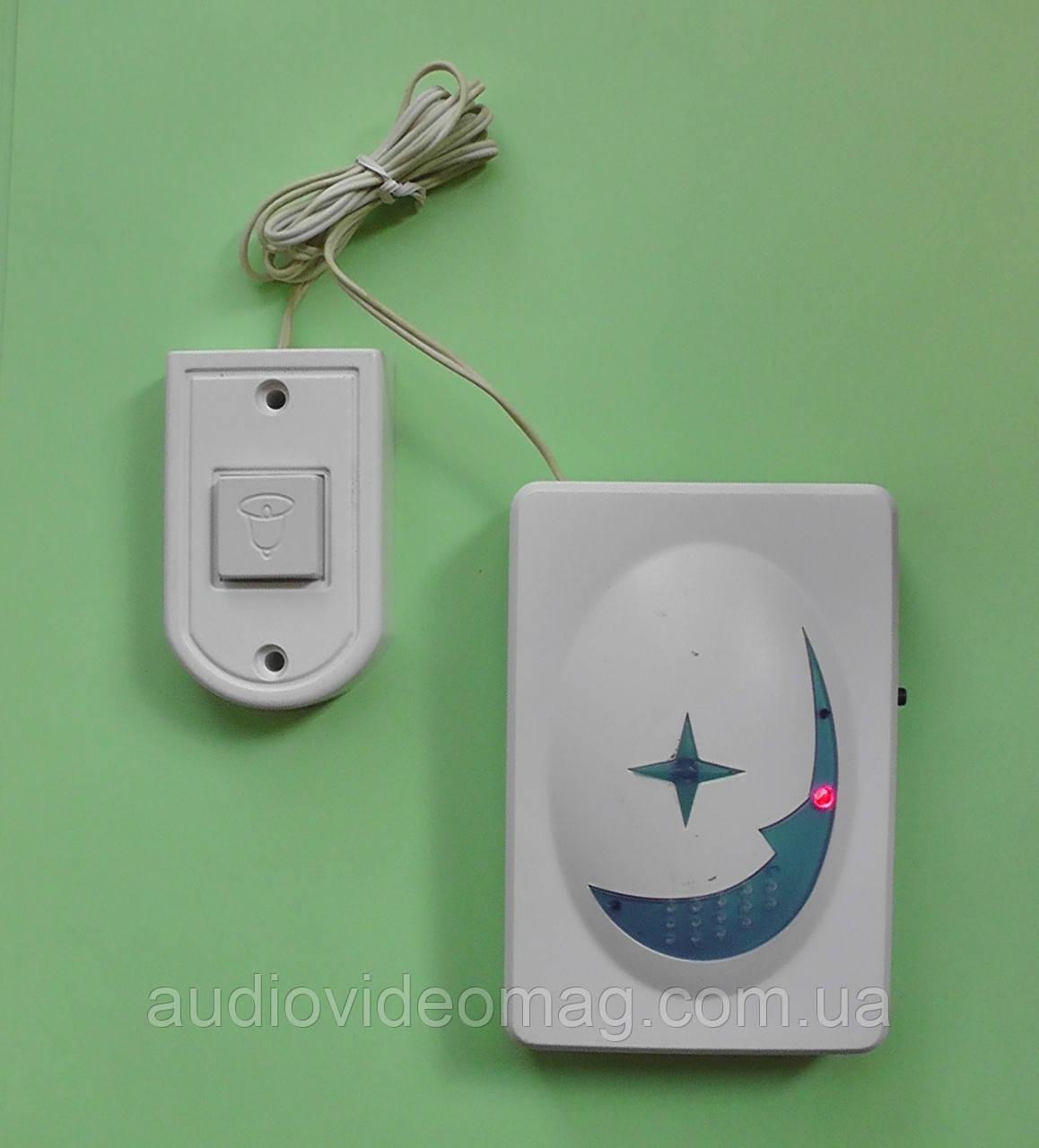 Звонок дверной с кнопкой на батарейках, 16 мелодий