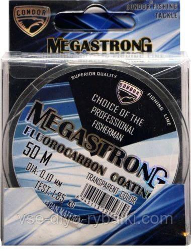 Волосінь Condor megastrong fluorocarbon 0,20 мм 50м
