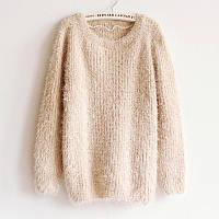Шерстяной свитер-пуловер травка