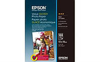Фотобумага EPSON Value Glossy Photo Paper, глянцевая, 183g/m2, 10х15, 100л (C13S400039)