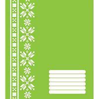 Тетрадь в косую линию 12 листов, А5 POLISVIT Эко-1 (зелёная)