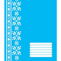 Тетрадь в клетку 12 листов677856«Polisvit Эко - 2», голубая