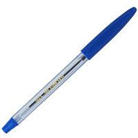 Ручка кулькова, (з гум. грипом), JOBMAX, синя