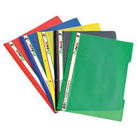 Скоросшиватель пластиковый с перфорацией 930028 Datum, А4 зеленый