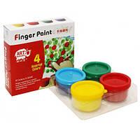 Краски пальчиковые RFC0435, 4 цвета * 35 ml
