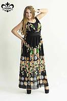 Шифоновое платье в пол р.L-XL
