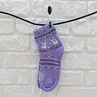 Носки женские из хлопка сиреневый