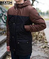 Куртка парка мужская зимняя Rextim Black/Brown